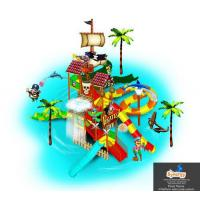 Buy cheap Pirate Theme Water Play Structure 4 Platform product