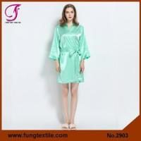 Fung 2903 Bridesmaid Solid Satin Robe