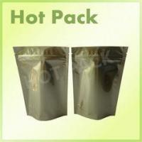 Buy cheap Gold Printed Stand Up Aluminum Foil Packaging Bags For Pet Food Packaging product