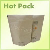 Buy cheap Stand Up Kraft paper Pouches Food Grade For Packaging Coffee Beans from wholesalers