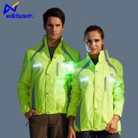 Buy cheap Mens Casual Black Green Blue Safety Sports Jackets with LED Warning from wholesalers