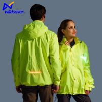 Buy cheap LED Glowing Zip Up Safety Winter Sports Running Hoodies for Men and Women from wholesalers