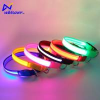 Buy cheap Pet Accessories Glowing Outdoor Walking LED Nylon LED Pet Safe Collars for Small and Large Dogs from wholesalers