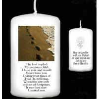 Buy cheap page Personalised Gift Handmade Footprints Poem Candle Gift for Any Occasion from wholesalers