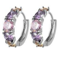 Buy cheap Buckle The Gold-plated Earrings Beautifully Colorful Fashion Earring Purple Ear from wholesalers