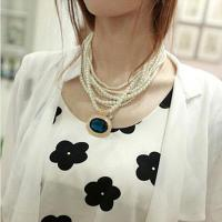 Buy cheap Sweet Temperament Pearl Necklace Glass Multi Korean Fashion Clothes Accessories For Women from wholesalers
