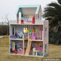 Buy cheap New design big girls luxurious wooden doll houses for sale W06A161 from wholesalers
