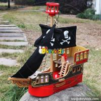Buy cheap New hot products boys and girls imagine shark bite wooden toy pirate ship W03B060 from wholesalers