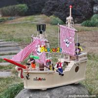 Buy cheap New hot products pink girls imagine shark bite wooden pirate ship toy for sale W03B061 from wholesalers