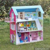 Buy cheap Hot sale girls perfect wooden american doll house with furniture W06A169 from wholesalers