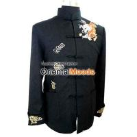Buy cheap Jackets & Coats mens embroidery dragons flax jacket from wholesalers