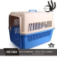 Buy cheap LOW MOQ plastic handle with wheels walking Plastic Cat Pet Carrier from wholesalers