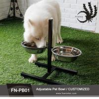 Buy cheap Double Elevated Raised Pet Bowl Dish Stand Feeder Food Water Stainless Steel Dog Bowl from wholesalers