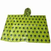 Buy cheap PE Poncho Clear Logo Printed Disposable Rain Poncho from wholesalers