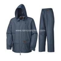 Buy cheap PU Raincoat Heavy Work Breathable Adult PU Rain Suit from wholesalers