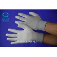 Buy cheap Disposable and ESD gloves series Cleanroom ESD carbon PU palm fit glove product