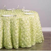 China Wholesale Rosette Wedding Table Cloth Wedding Table Runners Table Cover on sale