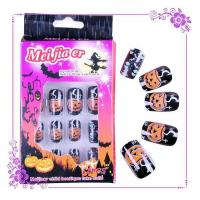 Buy cheap Halloween Nails Halloween fake nail designs 24 pcs blister package from wholesalers