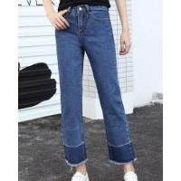 Buy cheap Nine tenths flanging slim high waist jeans for women from wholesalers