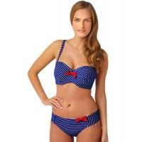 Buy cheap Panache Britt Stripe Underwire Padded Bandeau Bikini Top from wholesalers