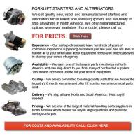 Buy cheap Forklift Starters and Alternators from wholesalers