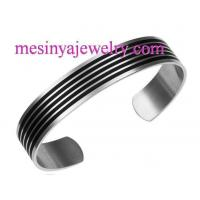 Buy cheap 316L Stainless Steel enamel cuff line unisex bracelet from wholesalers
