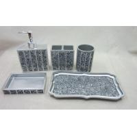 Bathroom sets accessories for sale from ebestbath for Silver mosaic bathroom accessories