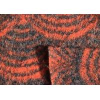 Buy cheap Waterproof Orange Color Faux Wool Fabric , Worsted Wool Boucle Fabric from wholesalers