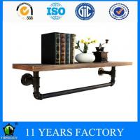 Buy cheap Metal Single Layer Display Wood Board Shelves with Towel Rack from wholesalers