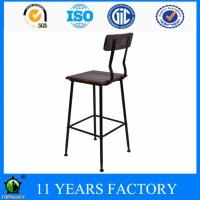 Buy cheap Industrial Metal Frame Natural Wooden Seat High Chair for Bar Shop from wholesalers