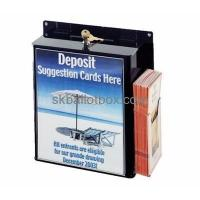 Buy cheap Customized acrylic feedback box design black suggestion box suggestion boxes with lock SB-006 from wholesalers