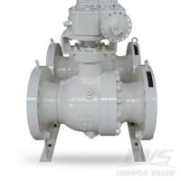 Buy cheap Flanged Trunnion Mounted Gearbox Ball Valve, RTJ, LCC, Class 600 from wholesalers