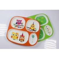 Buy cheap Childrens Melamine Personalised Serving Plates Trays With Dividers And Sections Tableware from wholesalers