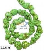 Buy cheap Loose Gemstones 15inch 15x20mm green turquoise nugget loose strands from wholesalers