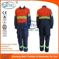 Buy cheap Safety workwear Chemical treated durable fire retardant fire proof overalls workwear from wholesalers