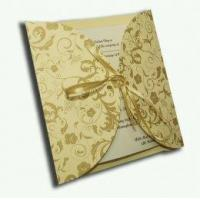 Buy cheap Baby Yellow circular classic simple gatefold ribbon invitation Product Code: SSCMCCWWG from wholesalers