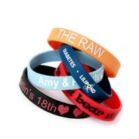 Buy cheap Factory Direct Custom Promotion or Event Silk Screen Printed Silicone Wristbands from wholesalers