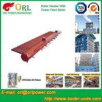 Buy cheap Low Pressure Steel Electric CFB Boiler Header Boiler Steam Header Water Tube Structure from wholesalers