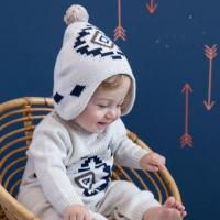Buy cheap baby hat DB1443 davebella baby knitted hats winter hats from wholesalers