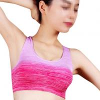 Buy cheap New Style Ombre Shockproof Sports Bra Vest Female No Rims Running Yoga Underwear Bra Top from wholesalers