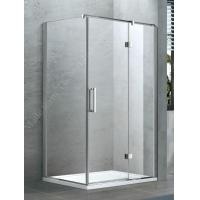 Buy cheap Brushed Stainless Steel Hinged Shower Door Obscure Glass from wholesalers