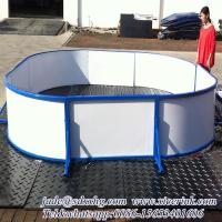 Buy cheap hot sale complete set synthetic ice hockey shooting rink skating plastic boards/barrier/fence from wholesalers