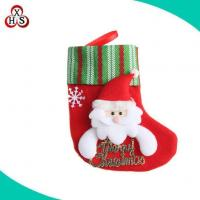 Buy cheap Hot Sale Stuffed Animal Head Plush Christmas Stocking Christmas Sock from wholesalers