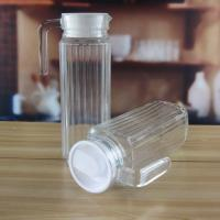 Buy cheap Machine Blown Classical Cylinder Glass Bottles Or Jar With Handle For Sale from wholesalers