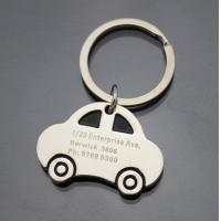 Buy cheap Small Car Shaped Silver Metal Key Rings Engraved Keyrings for Men CK-013 from wholesalers