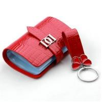 Buy cheap Luxury Red Cow Leather Keychains High End Keyring Gifts for Women AK-045 from wholesalers