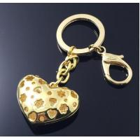 Buy cheap 3D Gold Heart Shape Picture Frame Key Rings Handbag Gift Keychain AK-031 from wholesalers