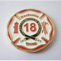 Buy cheap Customised Gold Plated Soft Enamel Firefighter Challenge Coins MC-001 from wholesalers