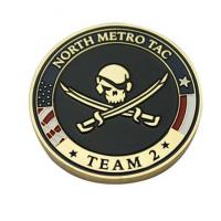 Buy cheap Personalised North Metro TAC Coins Engraved State and Marine Corps Challenge Coins MC-017 product
