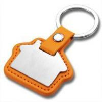 Buy cheap Laser Engraved Business Metal and Leather House Key Fobs HK-002 from wholesalers